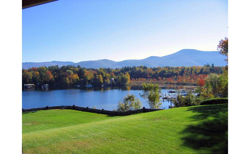 Take in the incredible views of fall foliage in the Adirondacks at Melody Manor Resort.