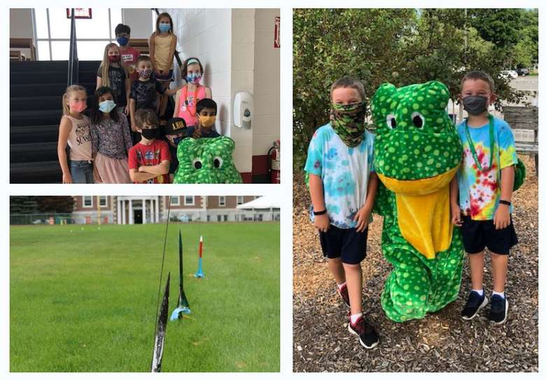 collage of three summer camp photos