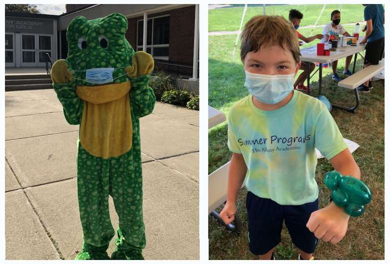 collage of person dressed as an animal and a kid with a turtle wristband