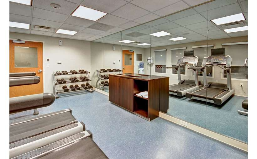 an exercise room
