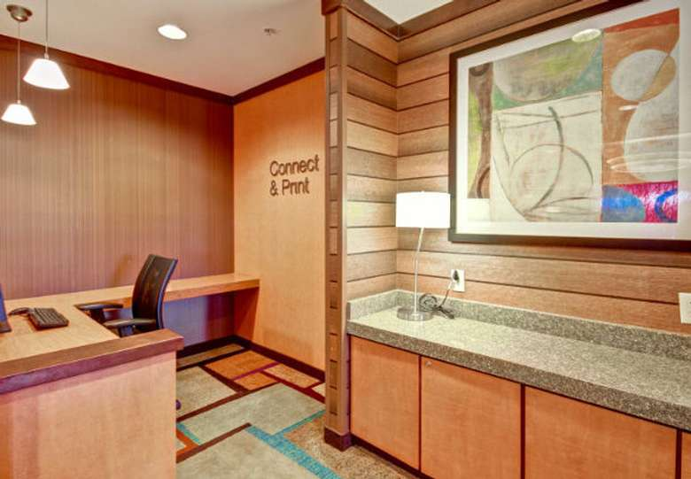 hotel business center desk