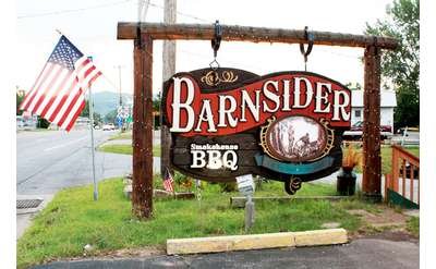 sign for the barnsider