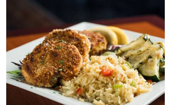 crab cakes at the boardwalk restaurant