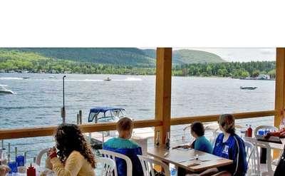 Boardwalk Restaurant lakeside seating