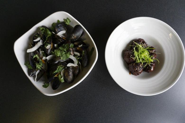 Mussels & Hoisin Meatballs