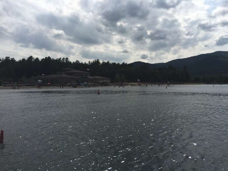 view of the waters of lake george and million dollar beach