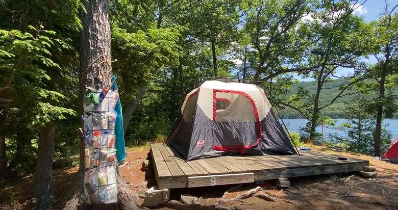 Campsite 9 has a Platform