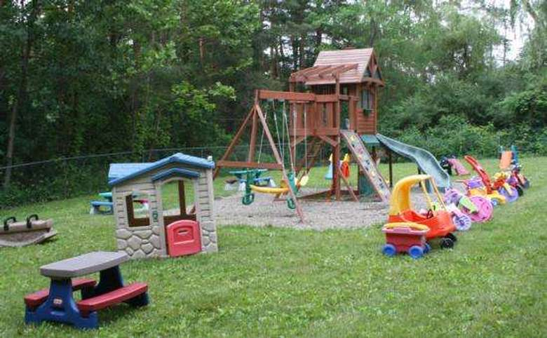 Playground with various toys outdoors