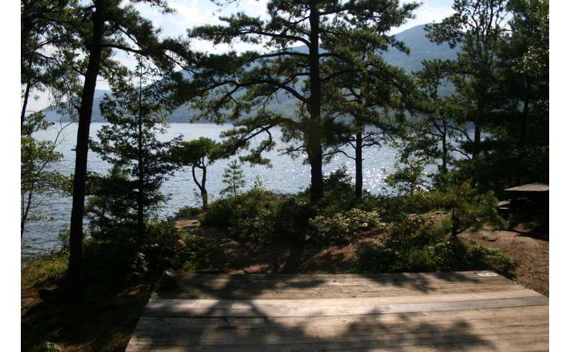 View of Lake George from Campsite #8