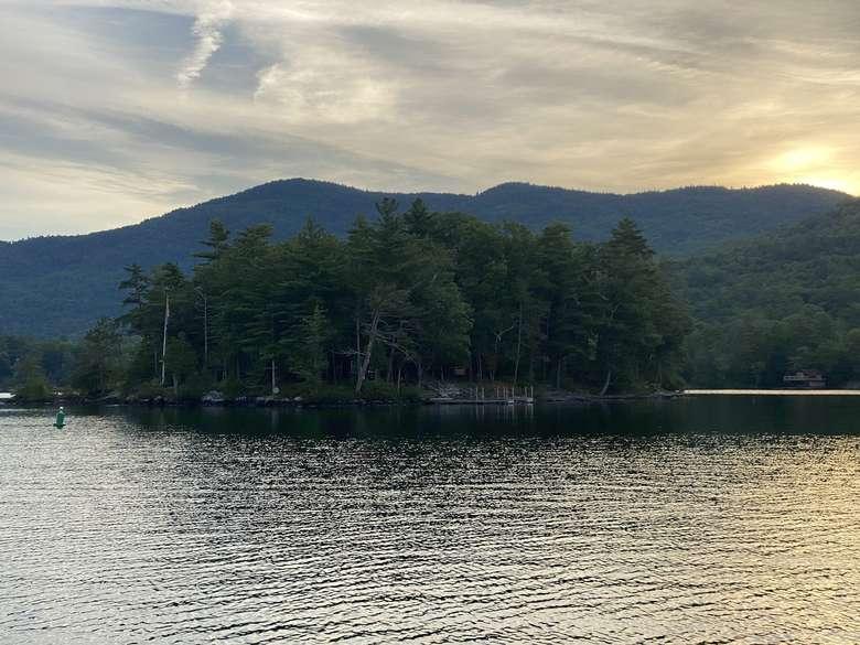 narrow island on lake george