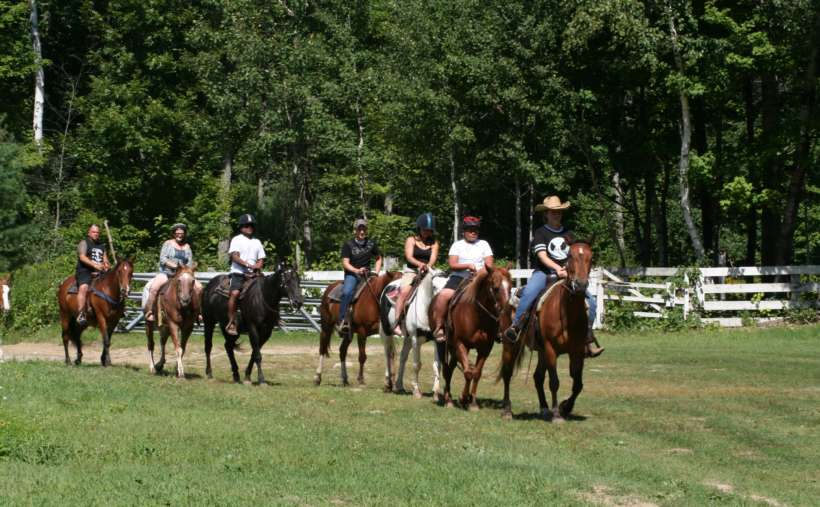 Follow the leader and go horseback riding during your stay.