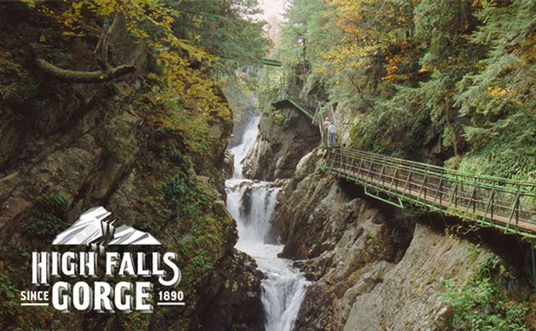 picture of bridge by high falls gorge