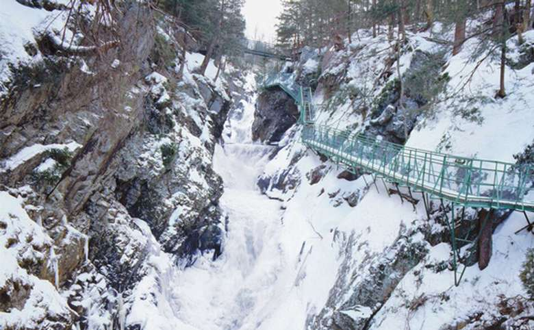 waterfall in the winter