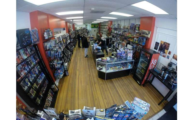 the inside of the Comic Depot