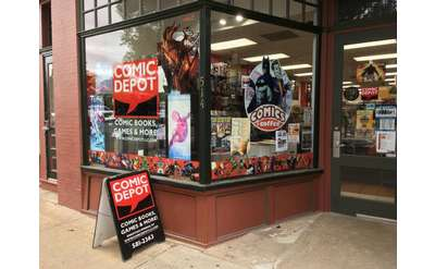 the outside of the Comic Depot