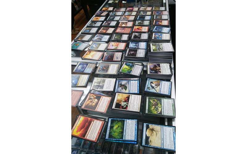 Magic: The Gathering cards spread out