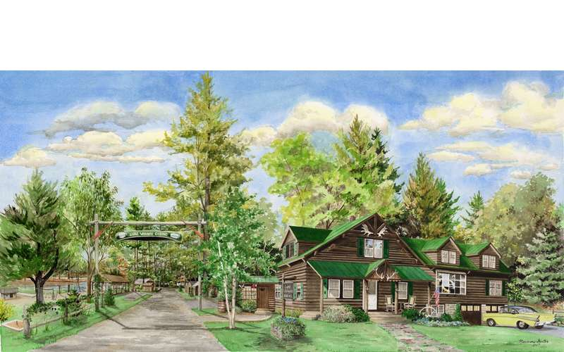 Lake Vanare Cabins & Lodge in Lake Luzerne, NY: Rustic and