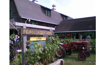 entrance sign at Indian Ladder Farms