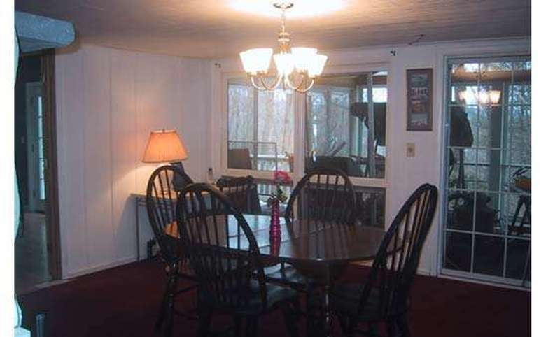 dining room with a hanging light fixture