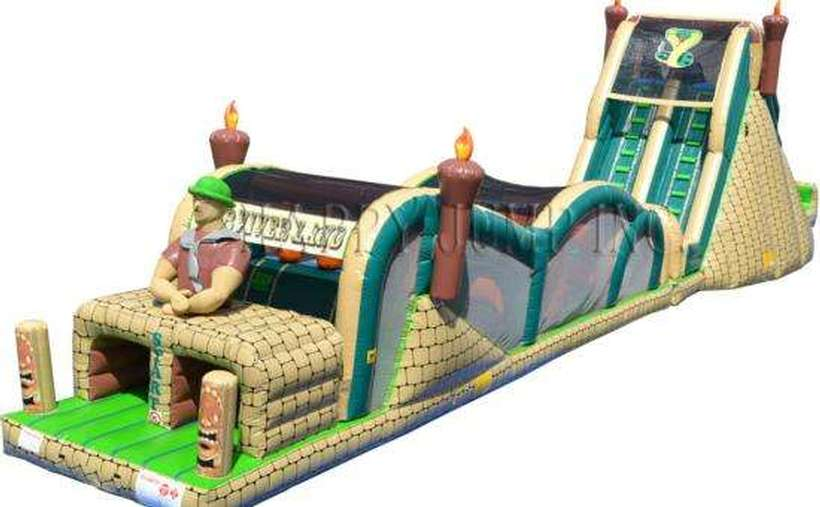 An inflatable obstacle course