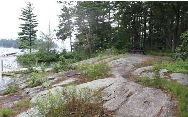 rocky ground near the shoreline