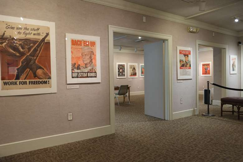 View of the 2020 WWII Home Front Posters exhibit