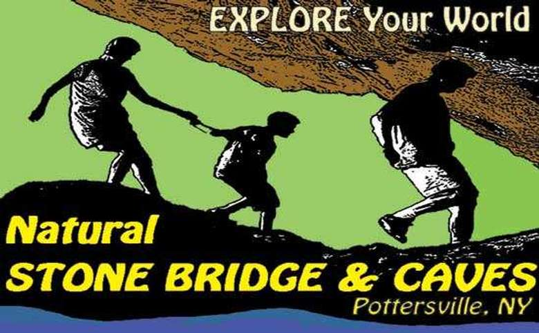 Logo for the Natural Stone bridges and caves