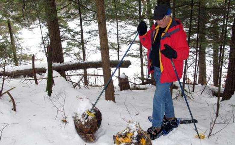 Snowshoeing on Beaver Stump Trail