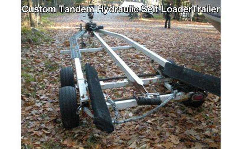 a long self-loader trailer for boats
