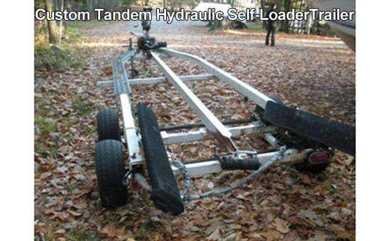 a long self-loader trailer for boats