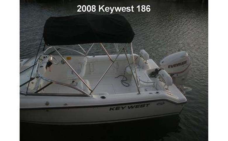 a key west motorboat on the water