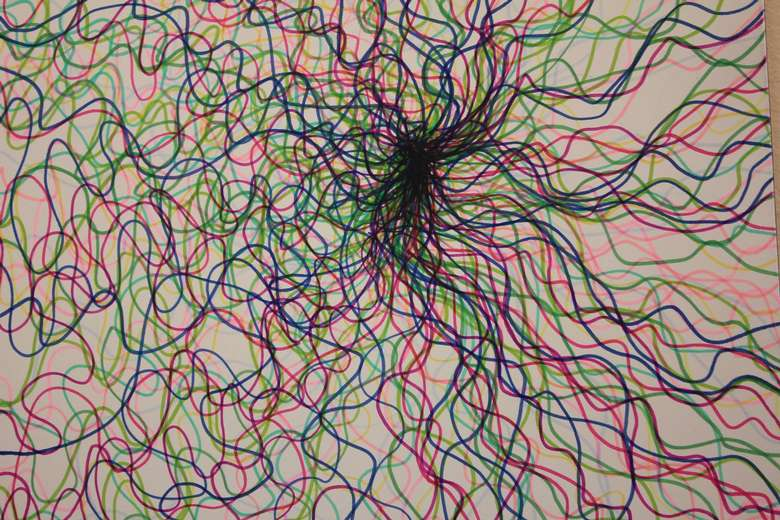 painting of squiggly lines