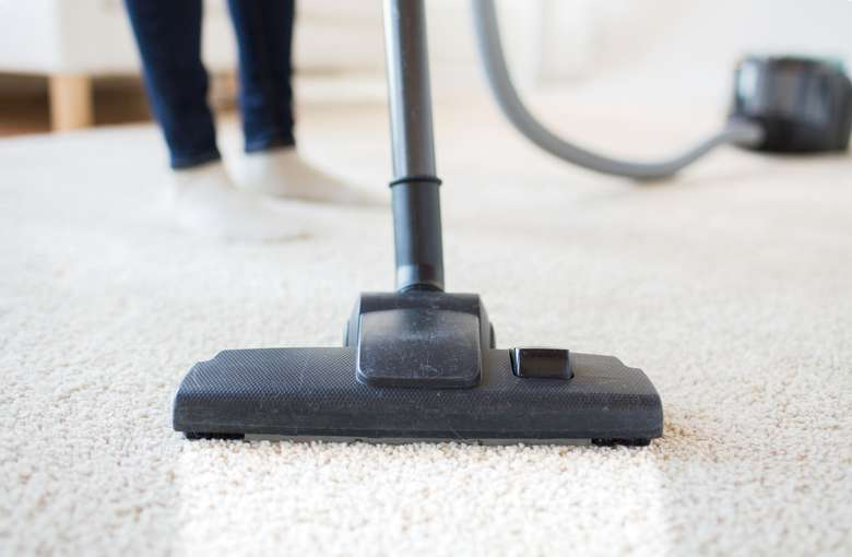 close up of a vacuum on the floor