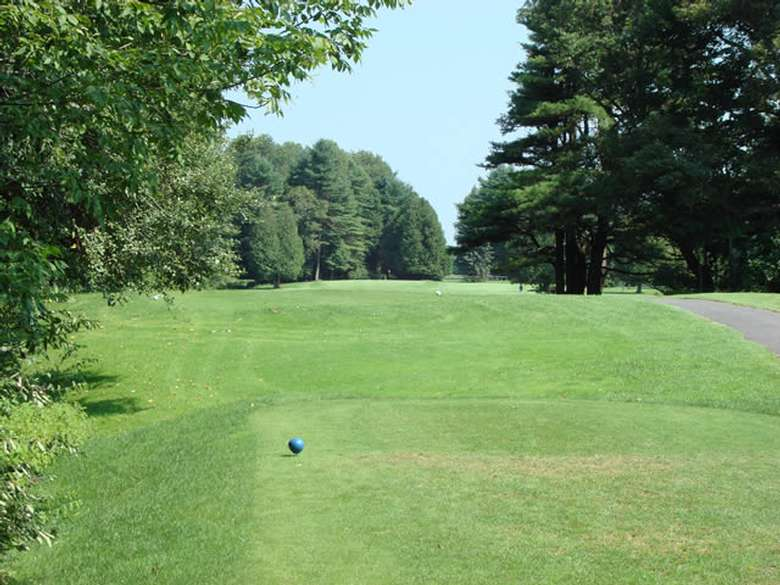 One of the greens at Queensbury Country Club