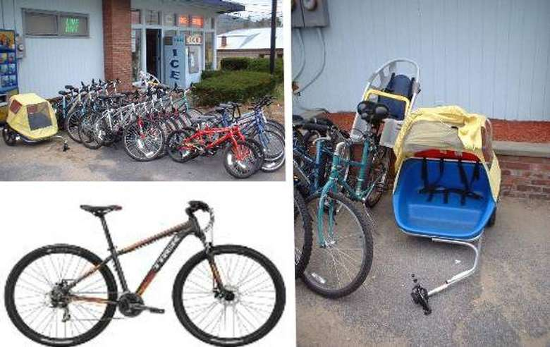 collage of bikes