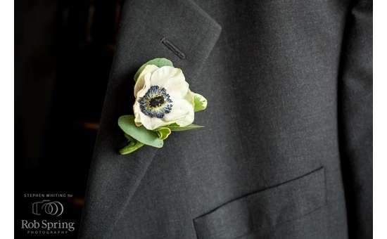 Boutonniere on a suite
