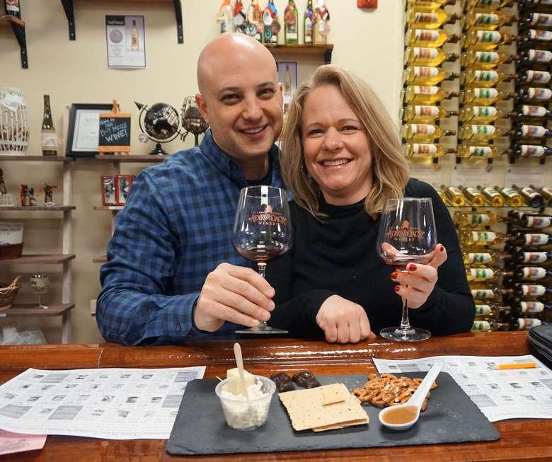 two wine tasters