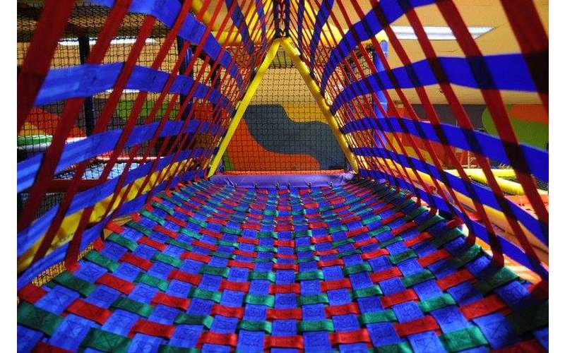 nets in an indoor playground