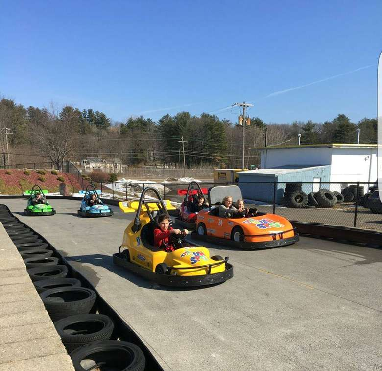 go-karts on the course