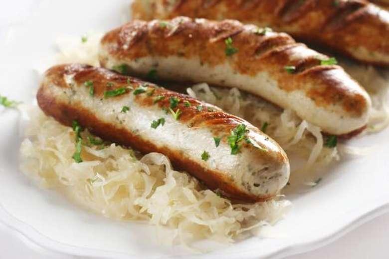 sausage on sauerkraut
