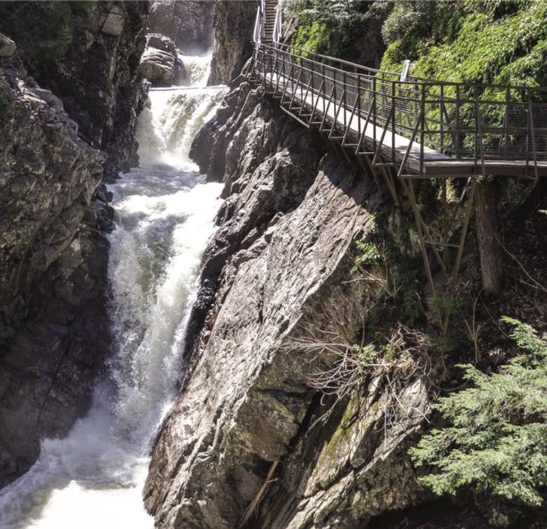 waterfalls at Hill Falls Gorge