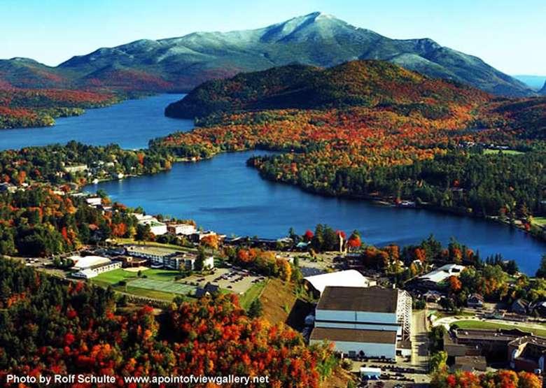 Adirondack mountains overlook