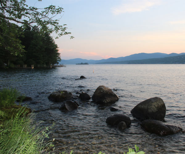 Lake George as seen from the shore of Long Island