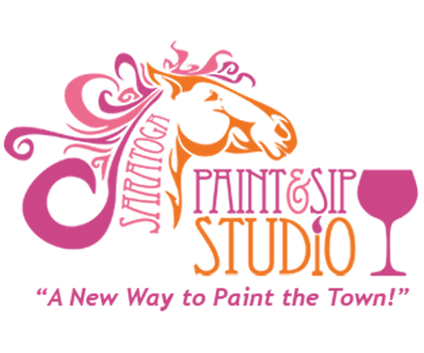 saratoga paint and sip studio logo