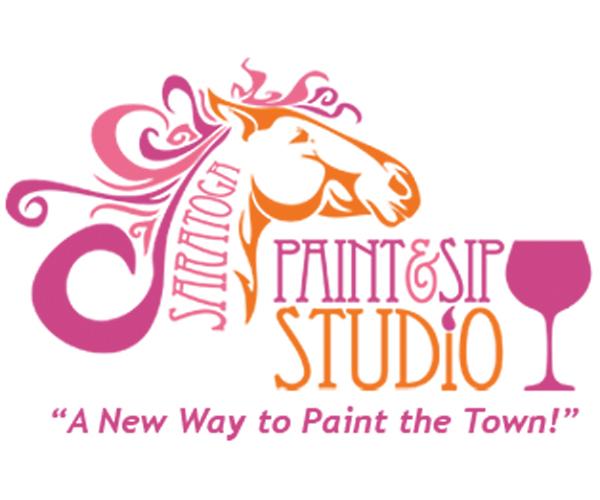 saratoga paint & sip logo