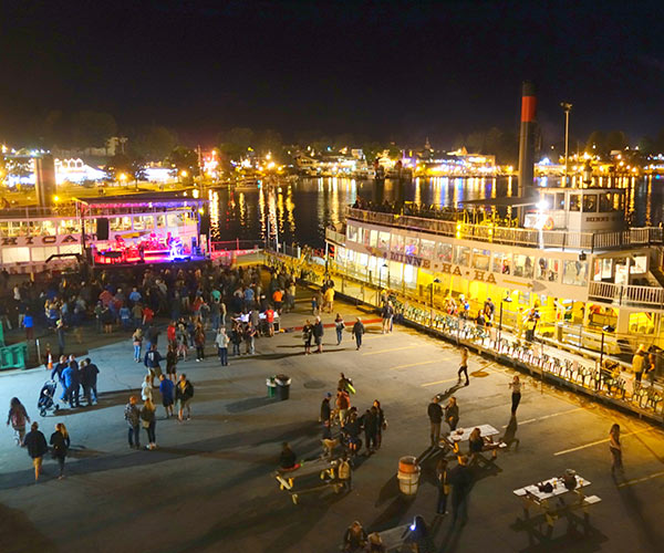 stage and steamboat at rock the dock event