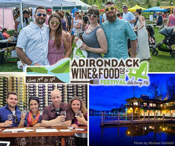 people attending the adirondack wine and food festival