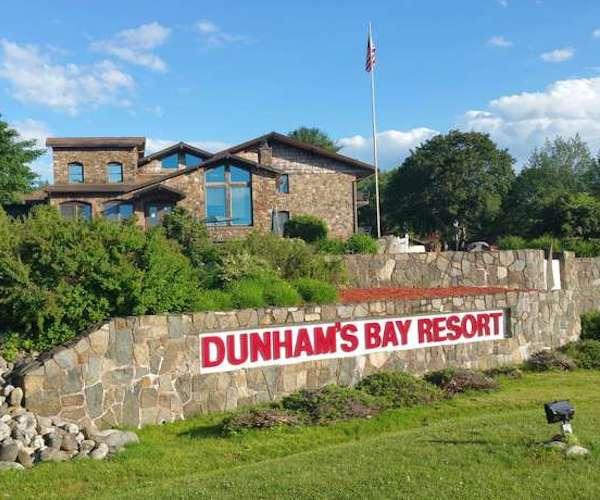 exterior shot of Dunham's Bay Resort