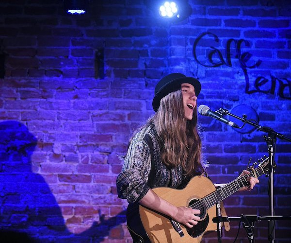 Sawyer Fredericks performing at Caffe Lena