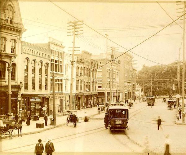 old photo of downtown Glens Falls